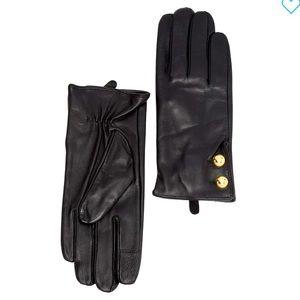 NEW Michael Kors Women's Leather Tech Gloves
